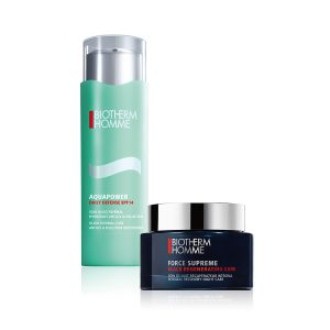 Biotherm_ AQUAPOWER DAILY DEFENSE _UND_ FORCE SUPREME BLACK REGENERATING CARE@2x